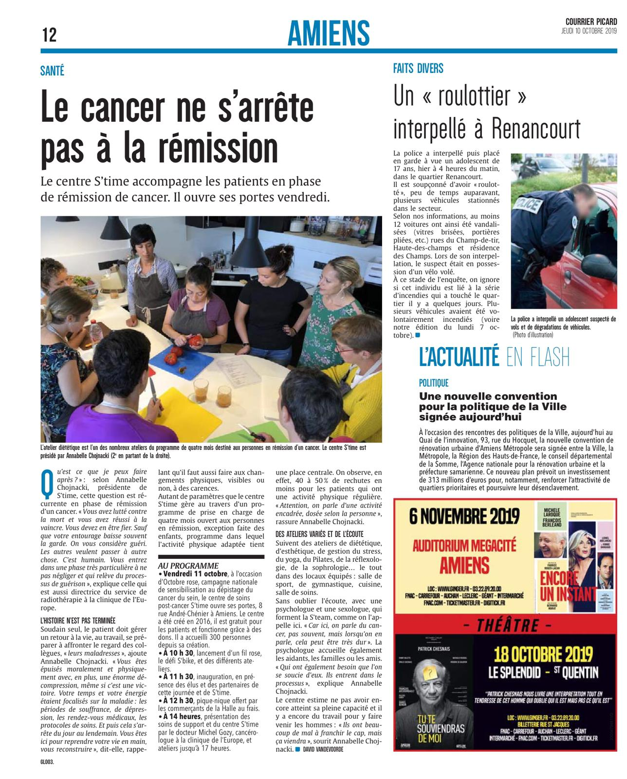 Courrier Picard 10 octobre 2°19